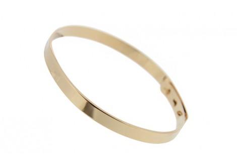 Bracelet jonc personnalisé or jaune