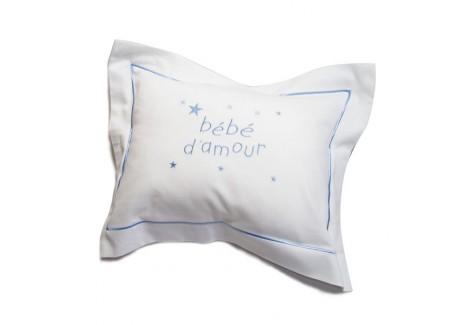 coussin personnalisé bourdon bleu motif étoiles