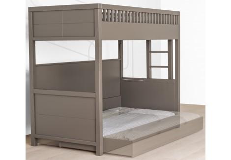 Lit Mezzanine Quax Quarré avec tiroir lit