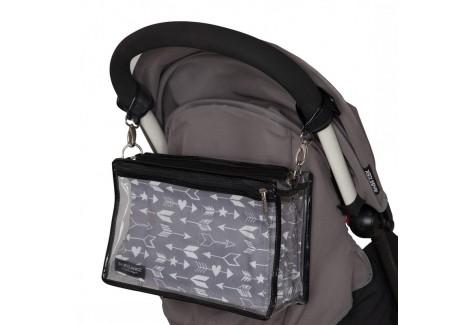 sac à langer BabyLange PM motif Flèche sur poussette babyzen yoyo