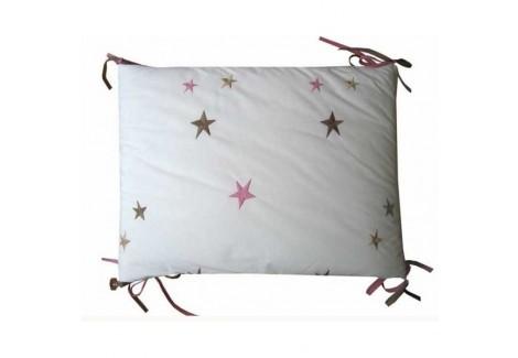Tour de lit etoiles roses emma mouton tour de lit - Tour de lit bebe mouton ...