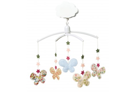 Mobile Musical Etoiles Papillons