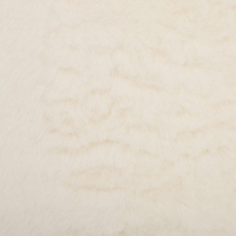 Tapis pilepoil en fausse fourrure forme rond tapis little b b s pu riculture - Tapis fausse fourrure blanc ...