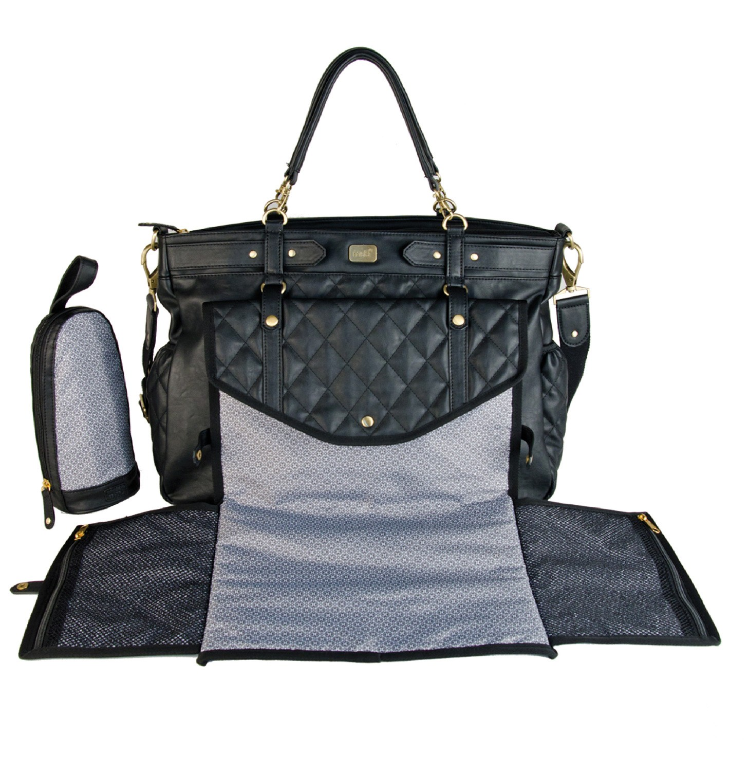 magic stroller bag sac langer lady chic black little b b s pu riculture. Black Bedroom Furniture Sets. Home Design Ideas
