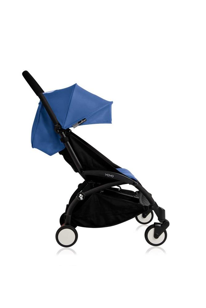poussette babyzen yoyo plus 0 et 6 bleu ch ssis noir. Black Bedroom Furniture Sets. Home Design Ideas