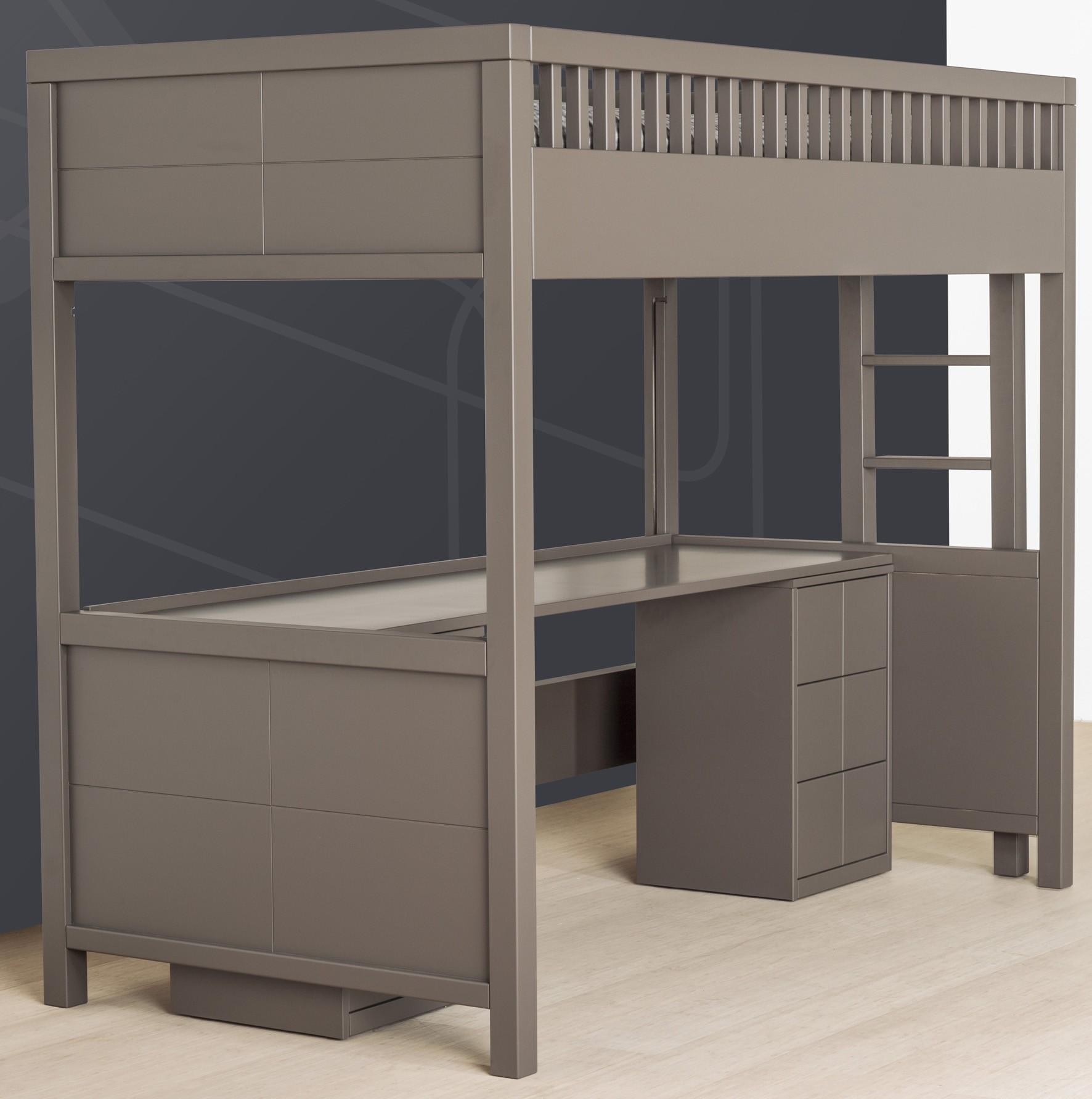 Caisson de support pour mezzanine quarr quax marques for Lit mezzanine avec bureau ikea