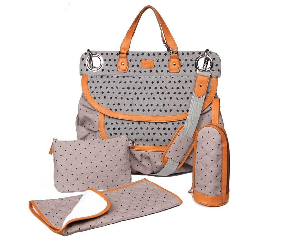 magic stroller bag sac langer glam stars grey little. Black Bedroom Furniture Sets. Home Design Ideas
