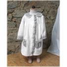peignoir robe gris/blanc