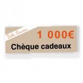Chèque cadeau de 1 000€