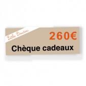 Chèque cadeau de 260€