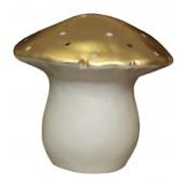 Lampe champignon Egmont  grand modèle doré