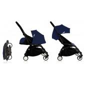 Poussette Babyzen Yoyo Plus 0+ et 6+ bleu marine Air France châssis noir