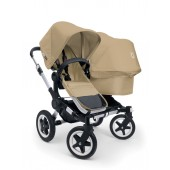 Poussette Bugaboo Donkey Duo base sable habillage sable