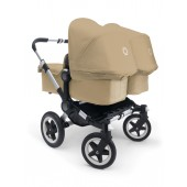 Poussette Bugaboo Donkey Twin base sable habillage sable