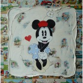 Tableau Minnie vintage collage
