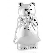 Tirelire ours en métal d'argent
