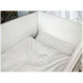 Tour de lit lin blanc