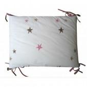 Tour de lit pour lit 60x120 cm Etoiles roses Emma Mouton