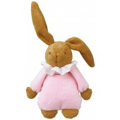 Lapin Musical Nid d'Ange Trousselier Rose 25cm
